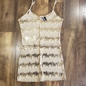Buckle Gold Tank Top